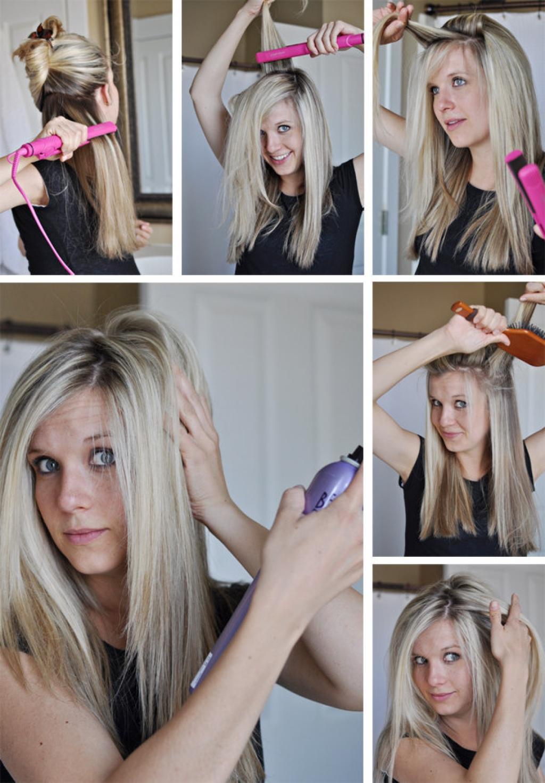 Как сделать большой объем у корней на длинных волосах в домашних условиях