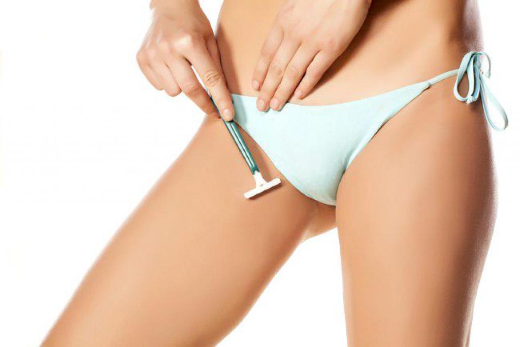 Bikini shaving tip