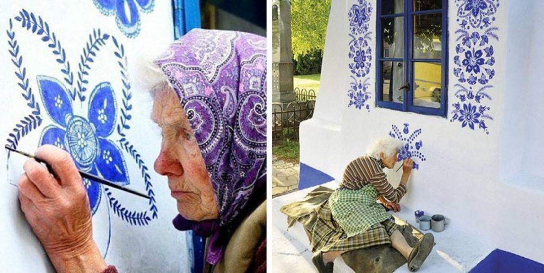 This 90-year-old grandmother decides to transform the houses of her village by painting flowers on them!