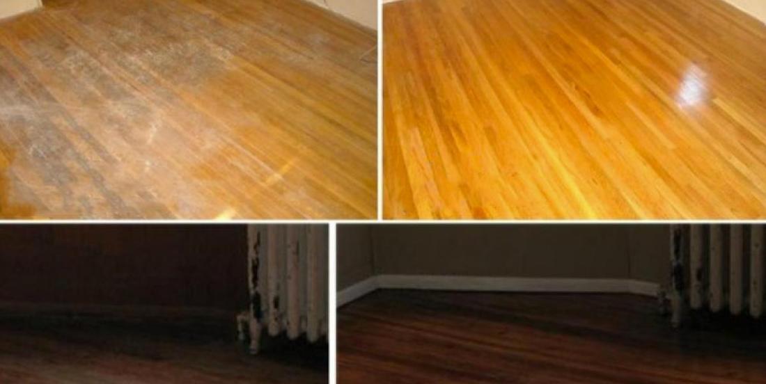 How to get a hardwood floor cleaner with no streaks.