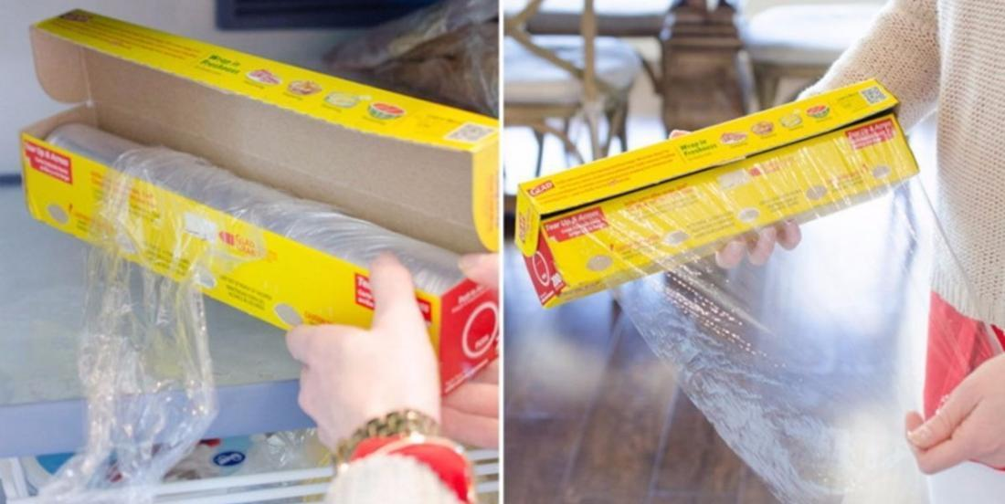 Place a roll of Saran Wrap in the freezer and see what happens! This trick is magic!
