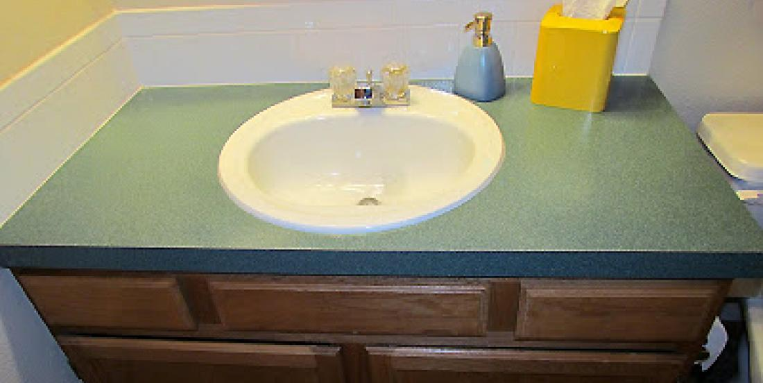 She was sick to see her green melamine counter, everytime she went in her bathroom!