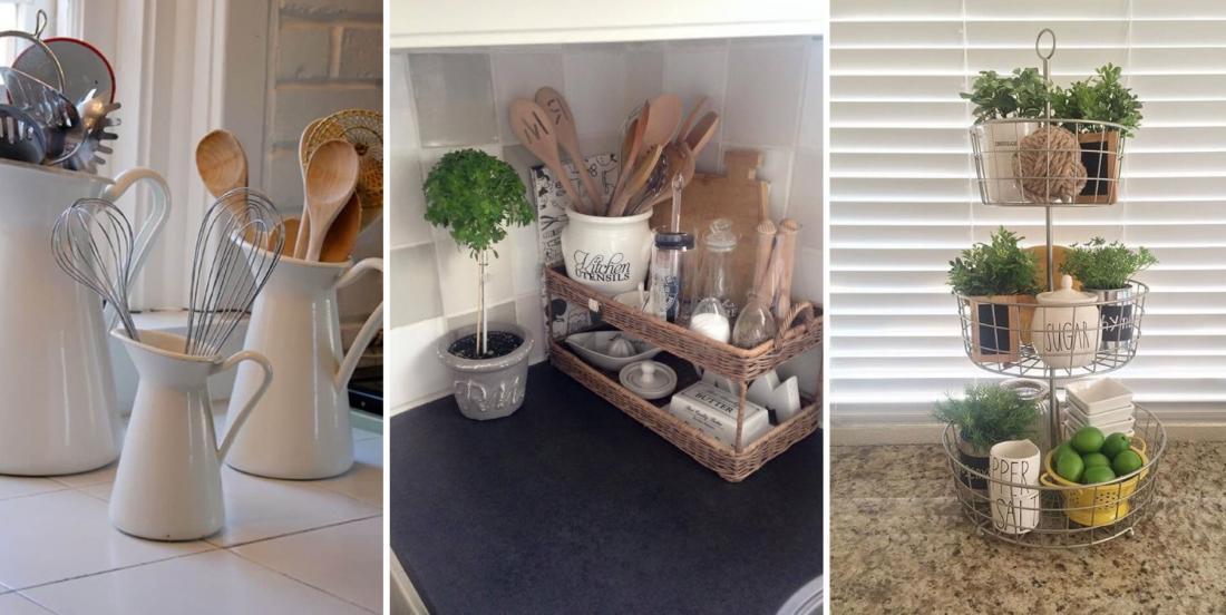 Keep your kitchen organized with these original storage ideas.