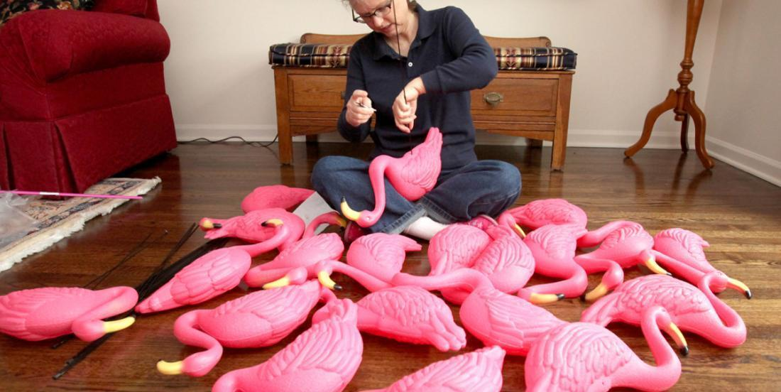Seeing his wife coming back with 20 pink flamingos, he laughs at her and her tastes! Until he sees her borderline genius idea!