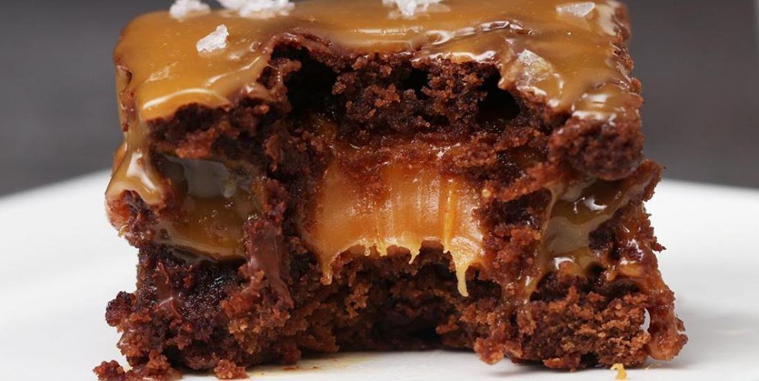 Salty caramel brownies