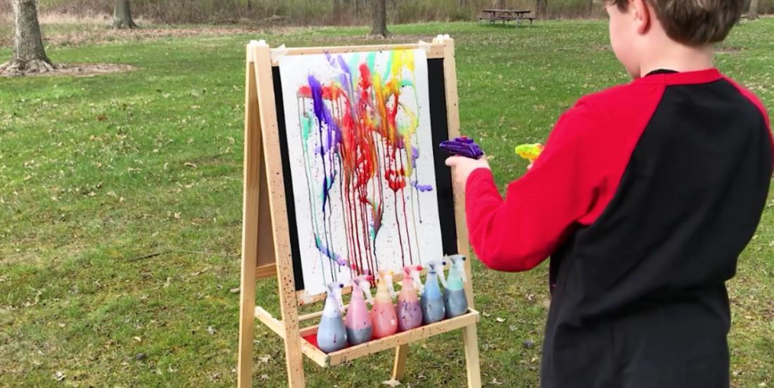 Looking for ideas to keep the kids busy? Here is a unique painting activity that they will love