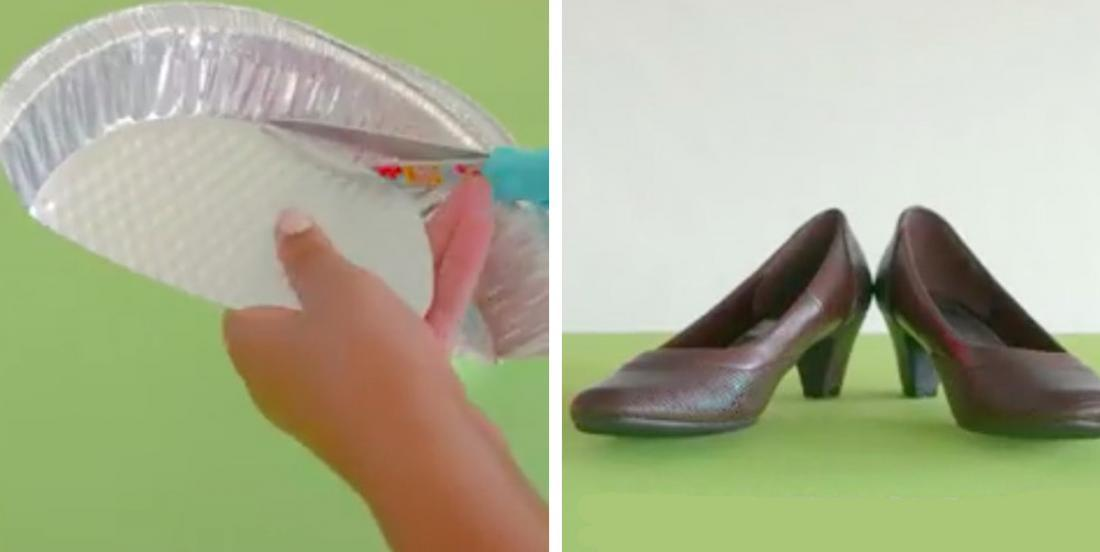With a plate of aluminum and old shoes, she realizes a decoration that she can use once a year!