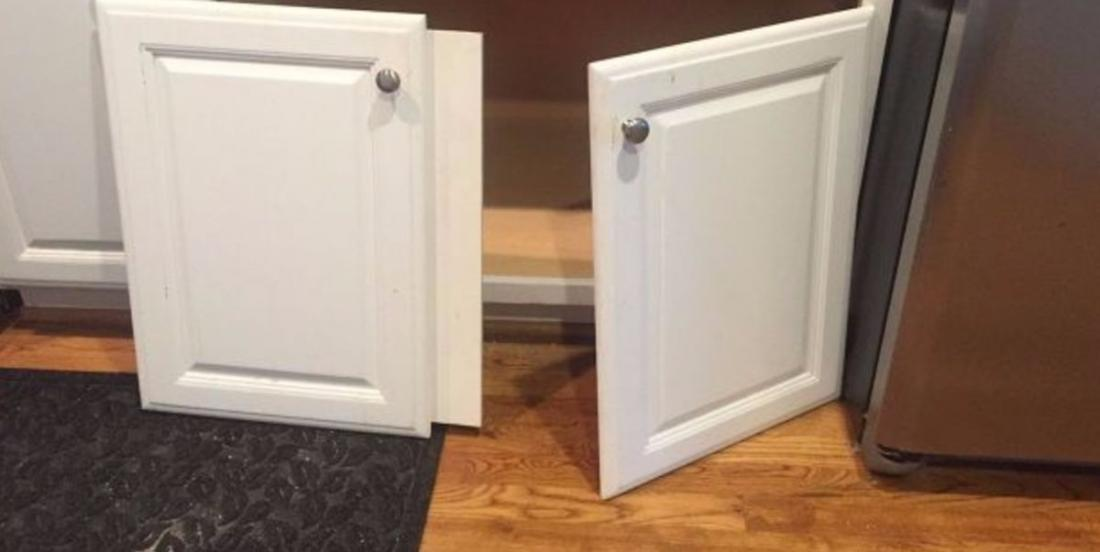 She doubles the storage space of her cabinet by removing the 2 doors. Her ingenuity will impress you!