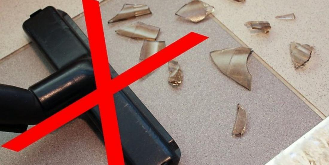 Safe tips to pick up broken glass: collect everything, without forgetting anything!
