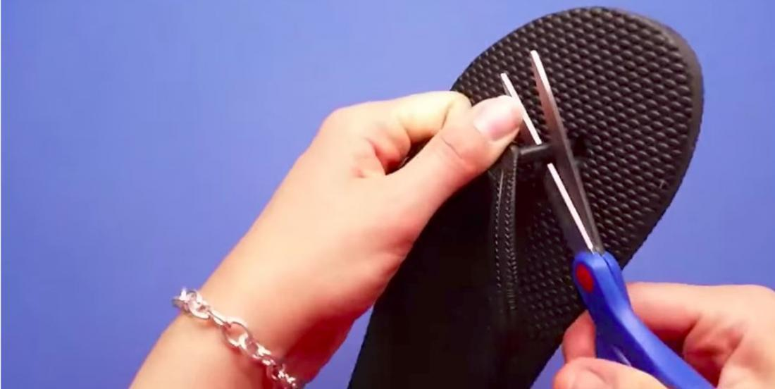 She buys a pair of Flip Flop sandals for $2 and shows us how easy it is to transform them