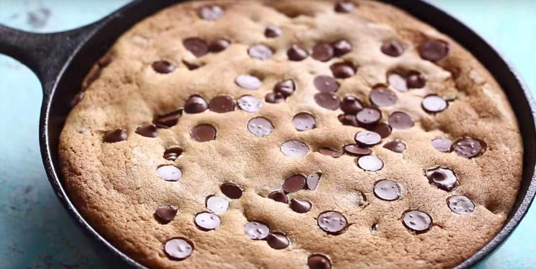 This big biscuit with chocolate chips hides a delightful surprise in the center of it, yum!