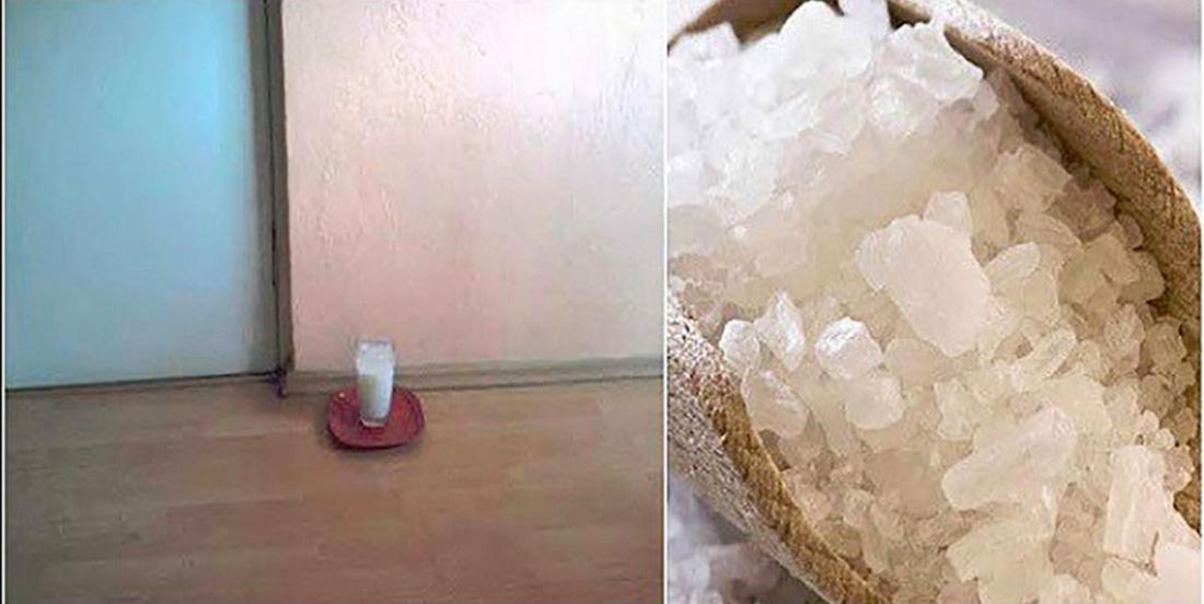 Place a glass of water with salt and vinegar in any room in your home…