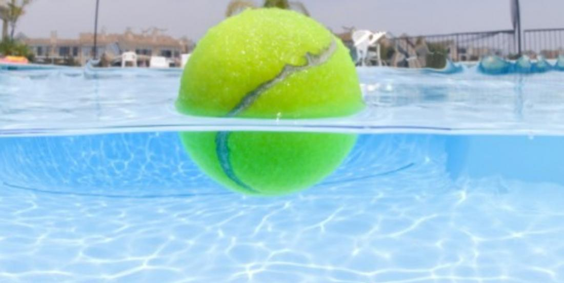 Clean your pool with a tennis ball!