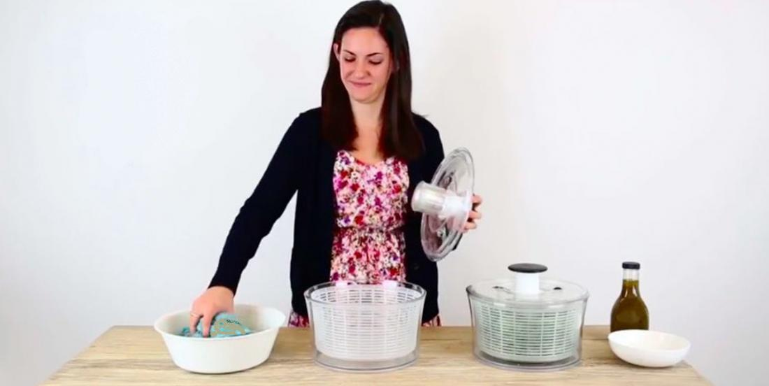 She has 2 salad spinners at home! You will never guess how she uses the second one!