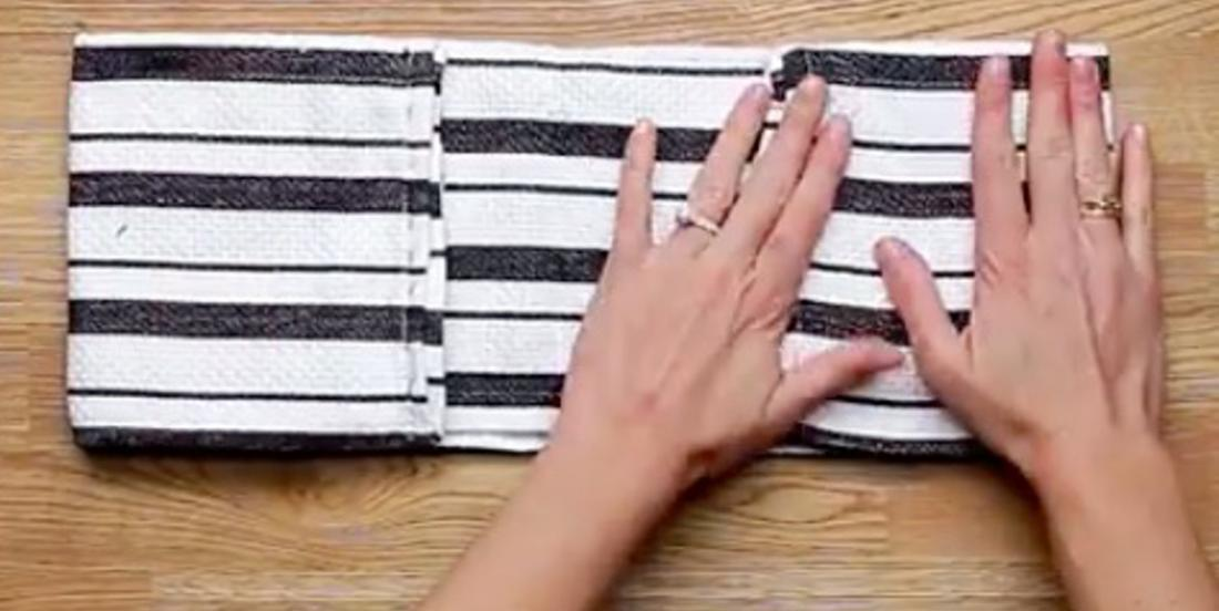What she makes with this towel becomes a kitchen accessory we all want to get!