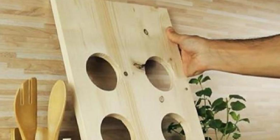 Who would have thought that a few holes in a wood plank could be very useful in the kitchen?