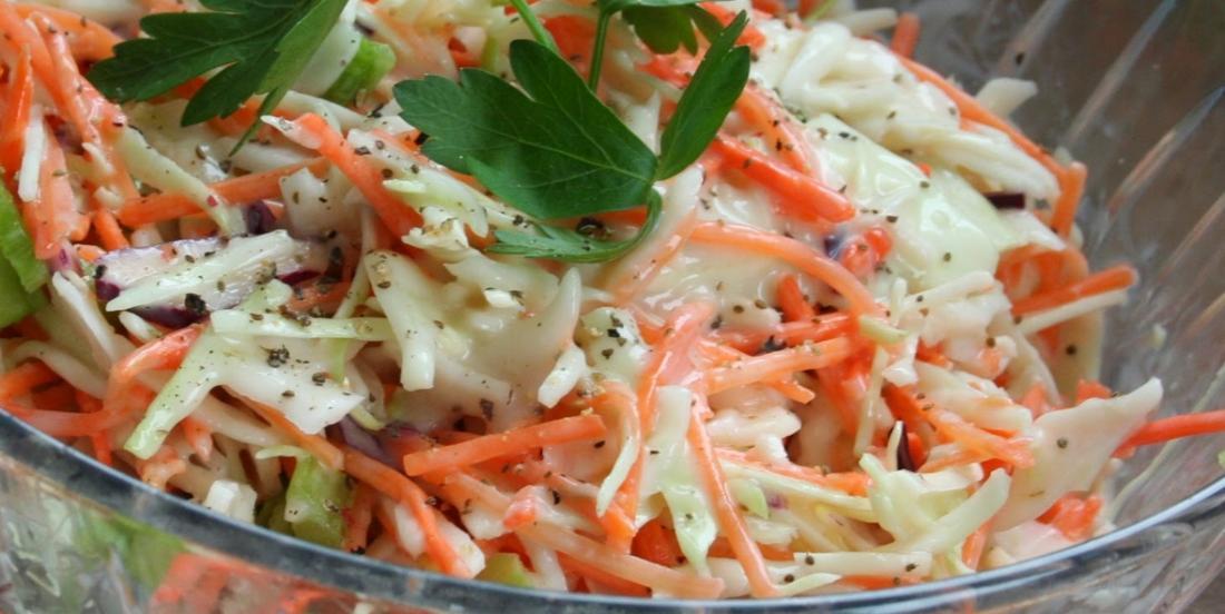 Creamy coleslaw, simply delicious!