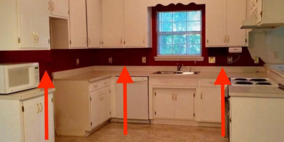 She did not want ceramics on her backsplash. Her idea is just perfect for her kitchen!