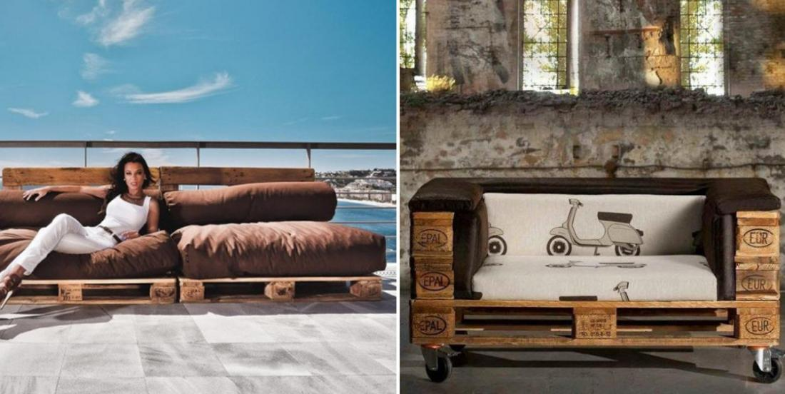 20 of the most beautiful sofa models made with wooden pallets