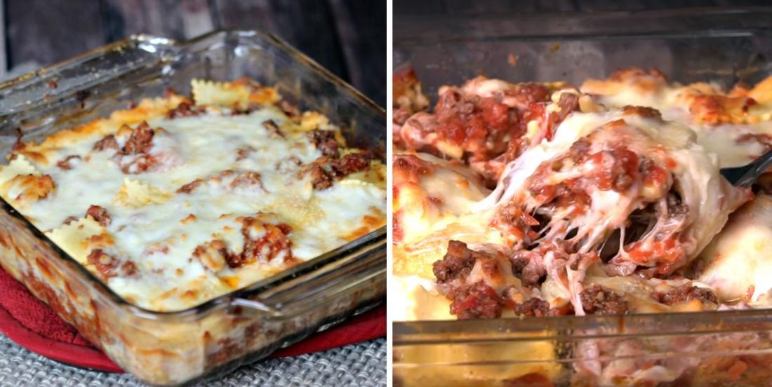 Lasagna for lazy people, when you're just to lazy to do anything!