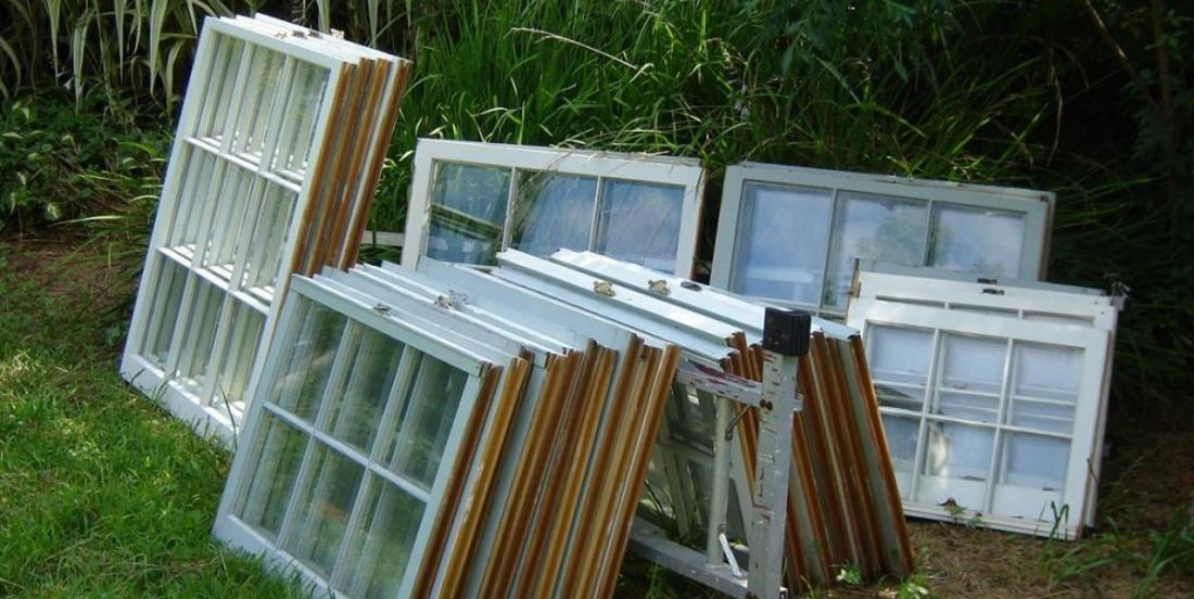 He finds a pile of old worn-out windows in the garbage! What he does with them is incredible!
