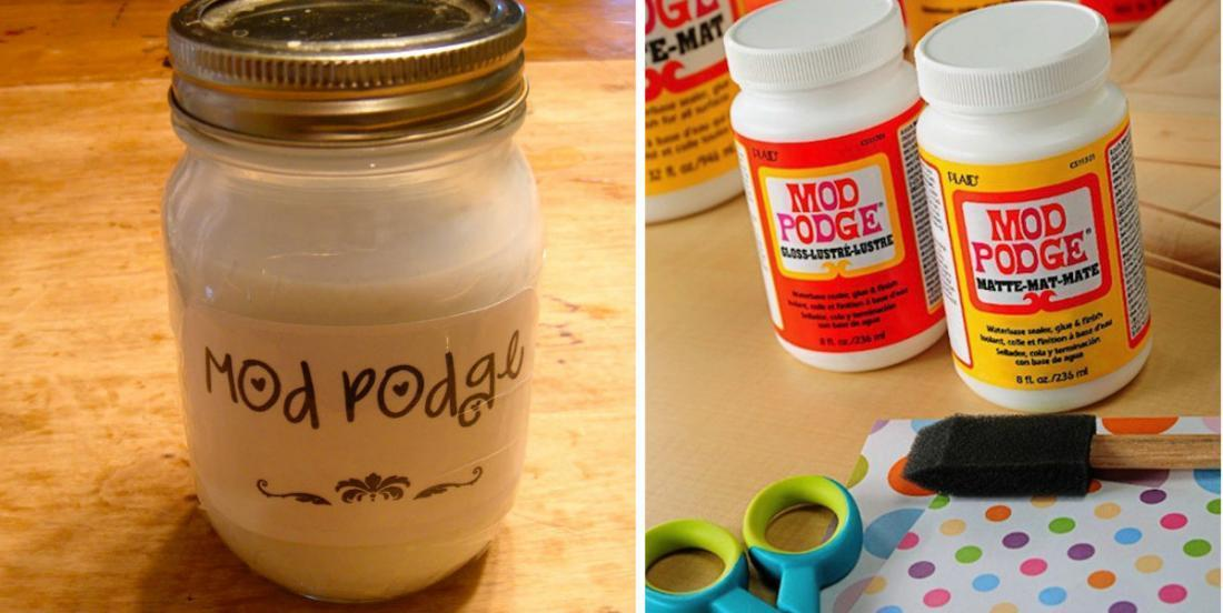 Make your varnish glue for $2! The Mod Podge is very easy to do!