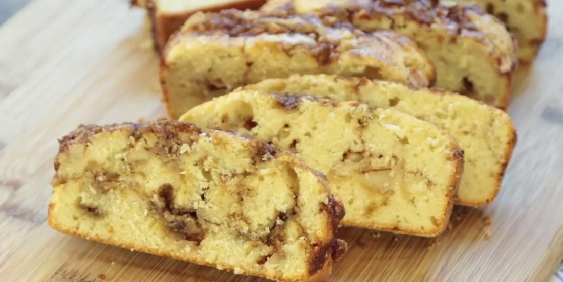 Apple and cinnamon bread, you'll always want to prepare one!