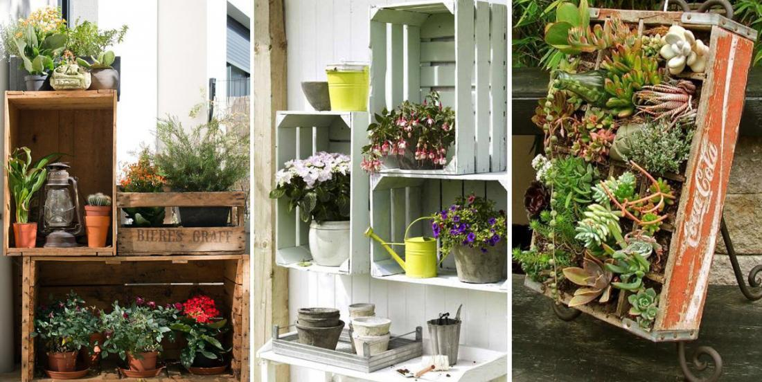 20 beautiful ways to decorate your garden with wooden crates