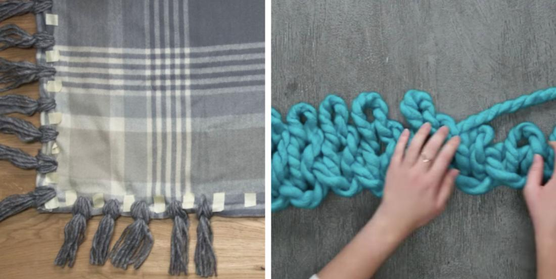 Here are 4 easy to make blankets in less than a day