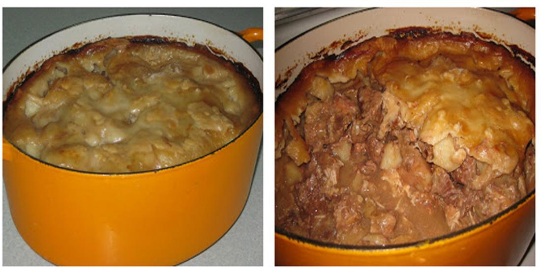 The sea-pie ... the best traditional method of doing it!