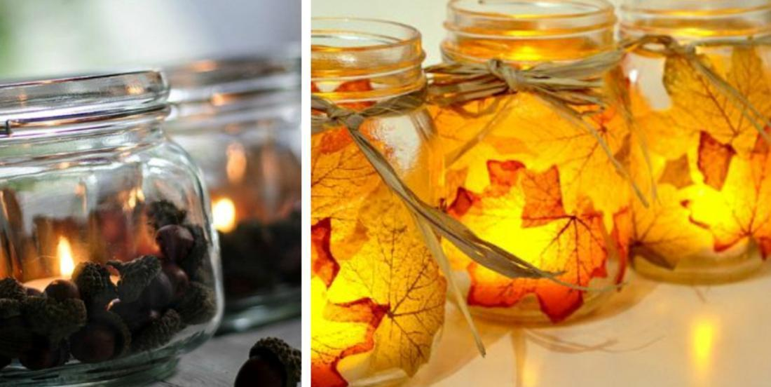 Here are 21 of the best autumn decorations to make with Mason jars