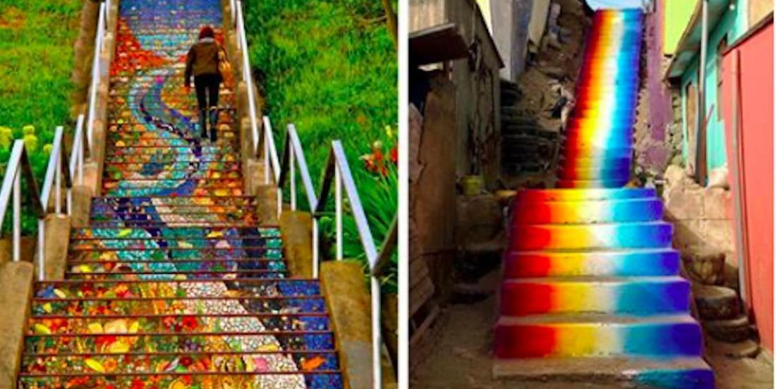 Here are 19 sublime stairwells that have been transformed by artists all around the world