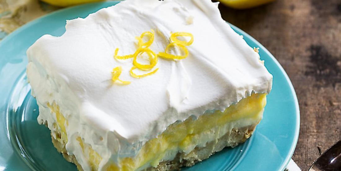 Fresh, light, creamy ... A perfect lemon dessert!