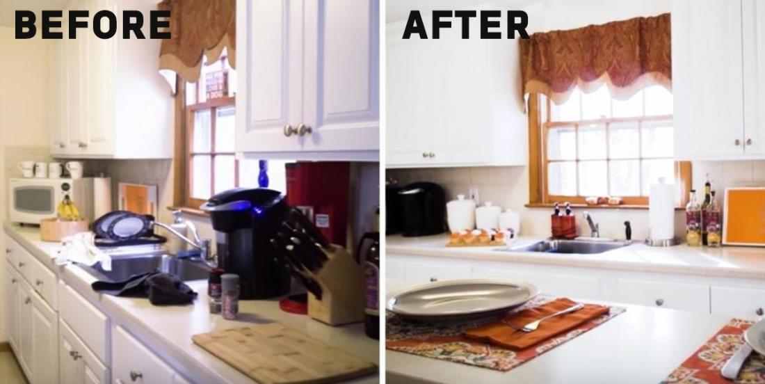 They call an expert of the organization for their small kitchen: she changes everything with almost nothing!