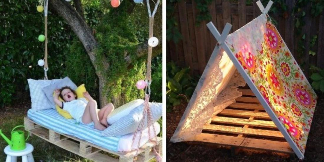 Here are 19 Fun summer DIY projects using wooden pallets your kids will love