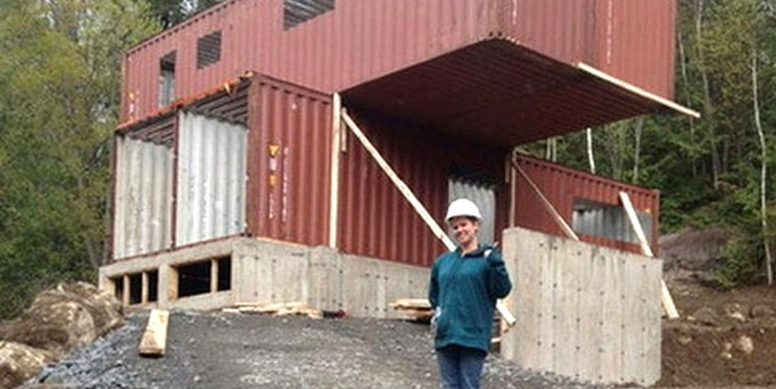 Let us show you what this original house, built using large cargo containers, looks like on the inside!