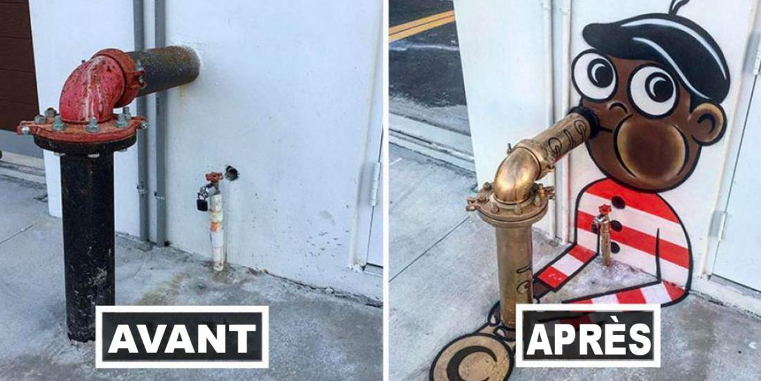This artist transforms ugly eyesores in the city into true works of art and these are truly on the top!