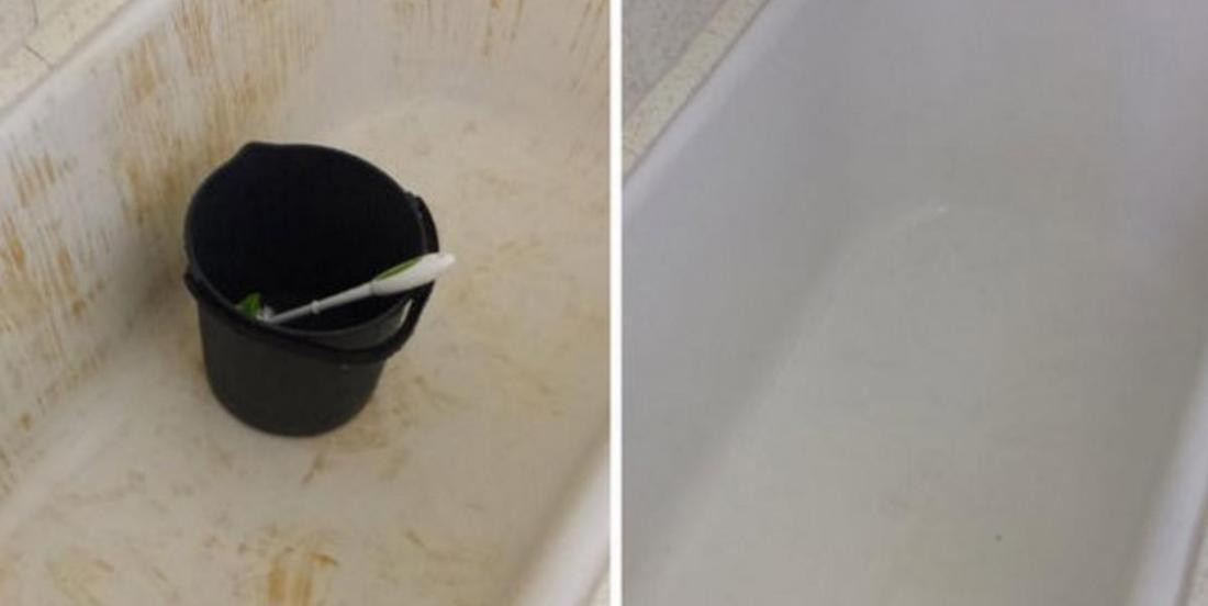 How to clean stained bathtub easily and with a product we all have at home?