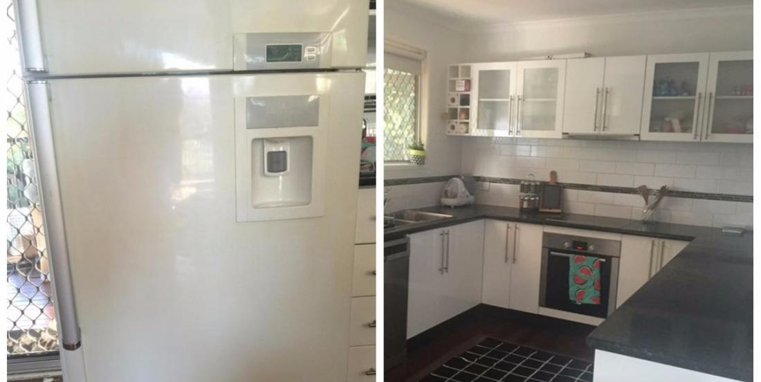 She renovated her kitchen, but she found her fridge ugly. What she's done to it is simply amazing!