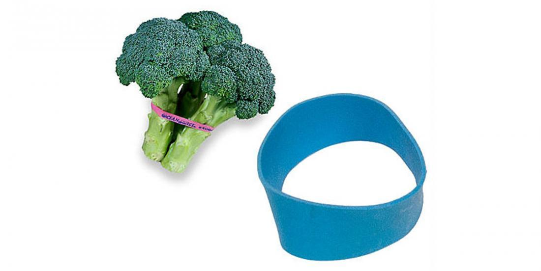 She no longer throws the elastics that hold the vegetables at the Supermarket! She uses them all over the house!