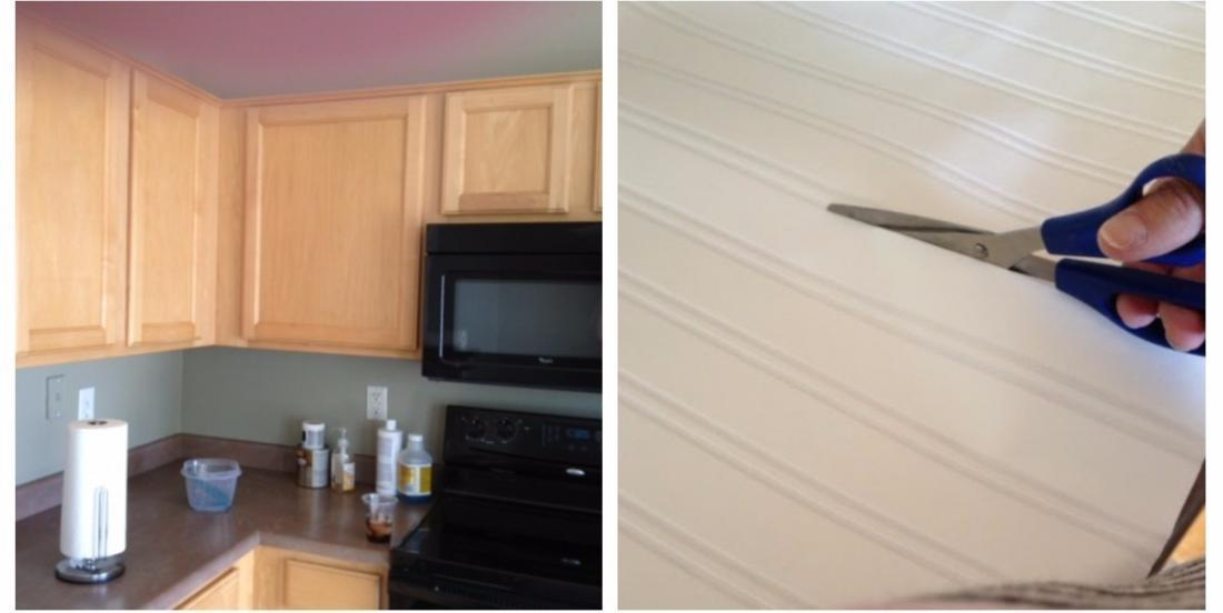 To renovate her cabinets without spending a fortune, she dared to use wallpaper. And she was so right!