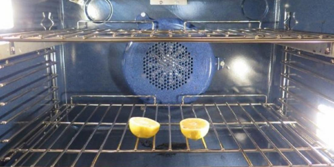 She places a lemon cut in half in her oven. I did not know this trick, but it's brilliant!