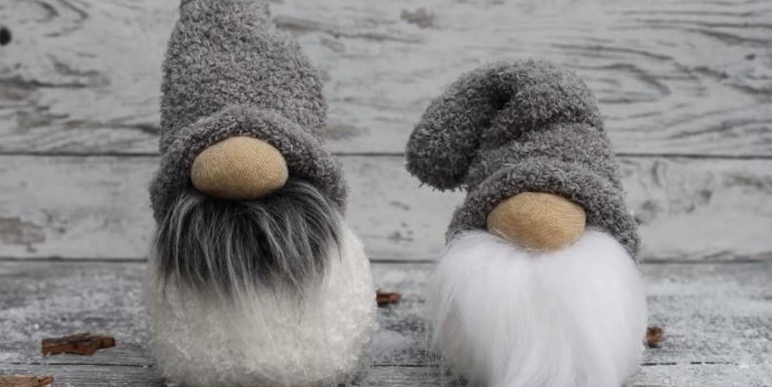 Learn how to make charming Christmas Gnomes using socks