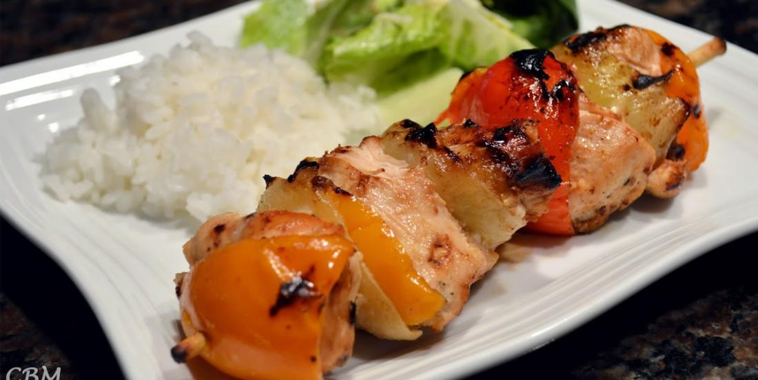 Chicken skewers in a delicious Japanese marinade ... flavors from abroad, amazing!