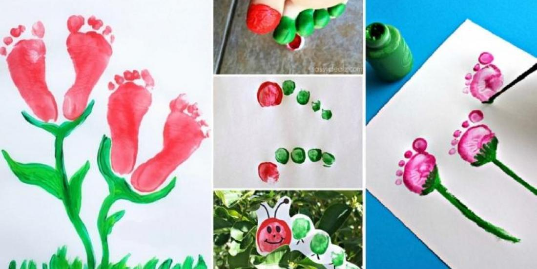 20 painting ideas that your children or grandchildren can do with their feet and hands