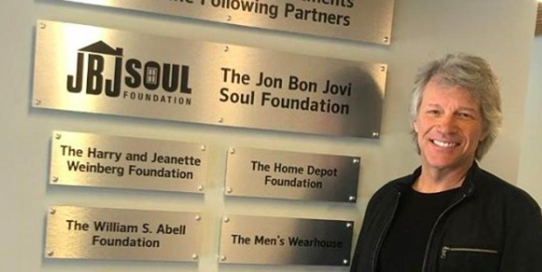 Bon Jovi Donated Half a Million Dollars to Build Homes for Homeless Veterans.
