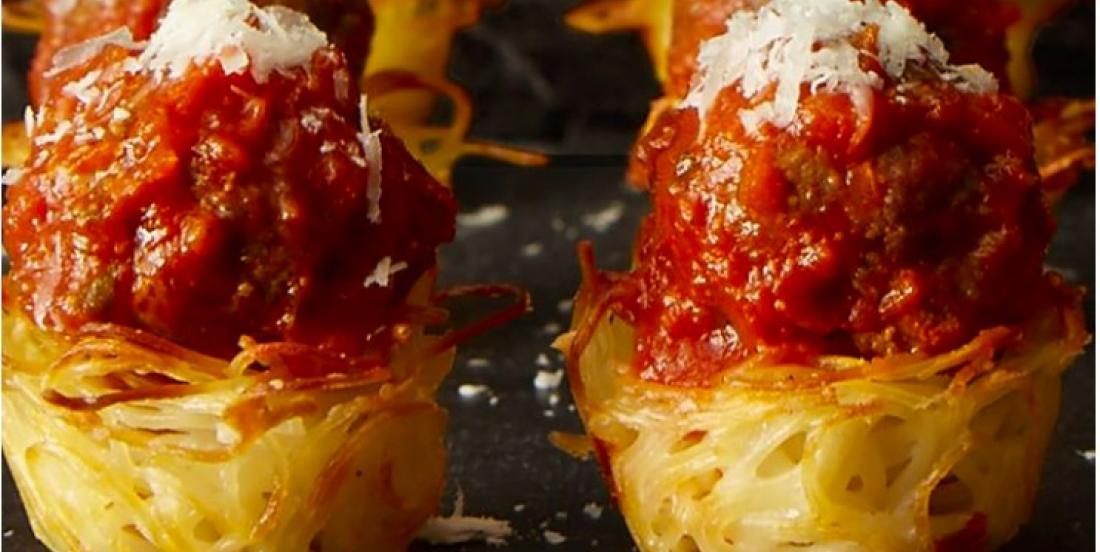 Impress Your Guests With Spaghetti and Meatballs Nests!