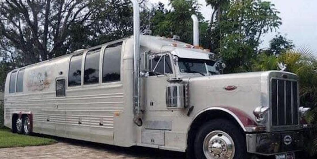 This trailer truck has been transformed into a luxury house on wheels!