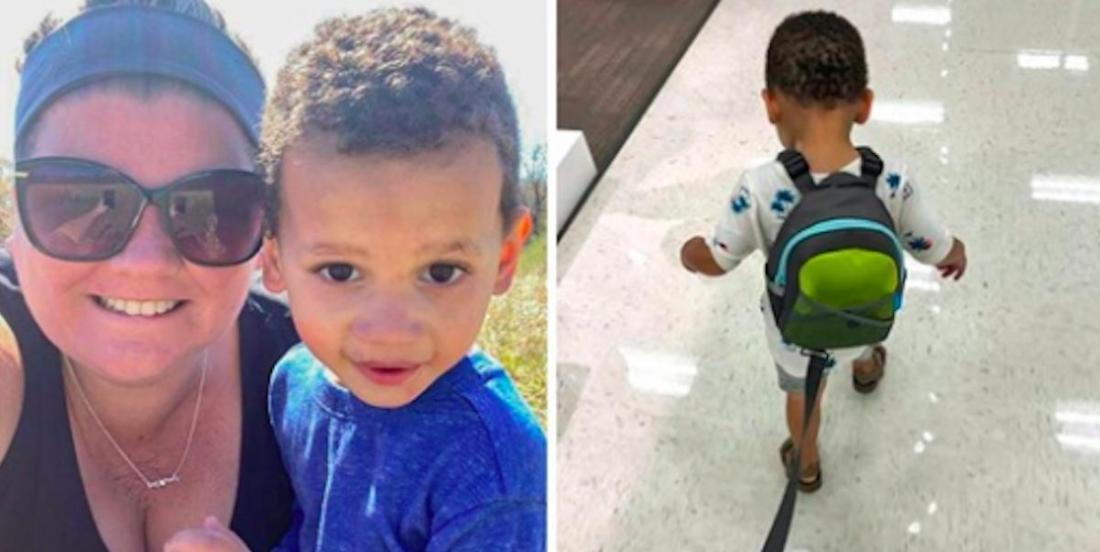 Would you judge a mom that is using a backpack with a leash for her kid?