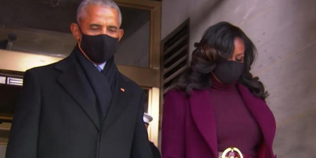 Michelle Obama's outfit for Joe Biden's inauguration lights up the web.